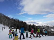 スキーキャンプ最終日