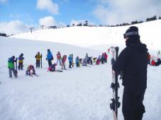 日帰りスキー1日目!