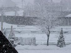 寒空の雪景色