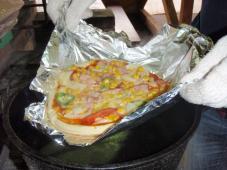 手作りピザは格別です