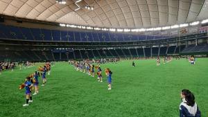 東京ドームでチアダンス披露