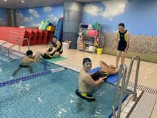 水難救助訓練の様子