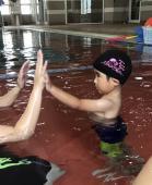 夏休み短期水泳教室開催しました