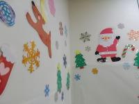「壁もクリスマス」